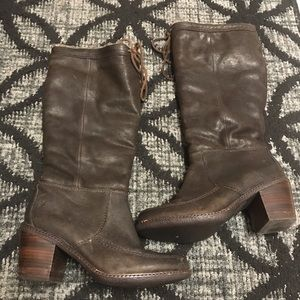 Frye knee high  shearling lined boots size 8